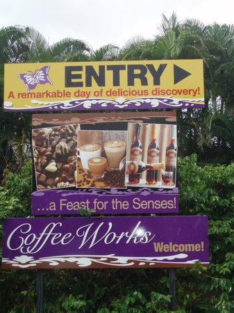 Coffee Works: Welcome sign