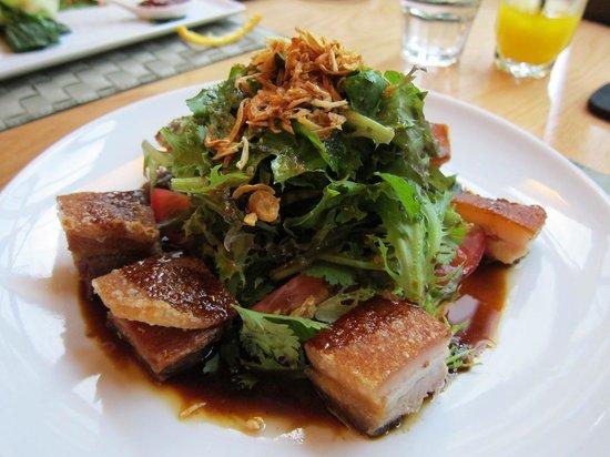 Food at Wharepuke: Pork Belly