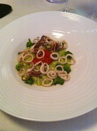 Bayview : Risotto, calamaretti, tomates de Sicile