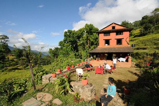 Samari Ghar and Lodge: Samari Ghar from garden