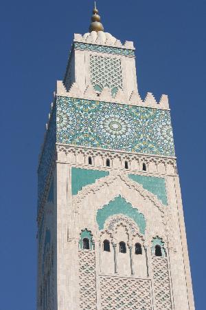 Casablanca, Morocco: minaret of hassan ii mosque