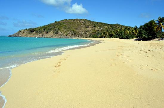 Saint-Martin, St Martin / St Maarten: Happy Bay Beach