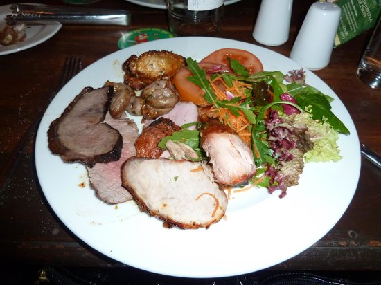 Rodizio Rico: My plate of meat & salads & that wasn't ALL of it!
