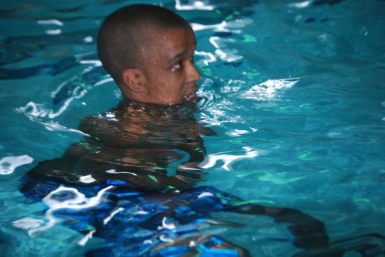 Francis Scott Key Family Resort: Alex swimming at night:) he love to!