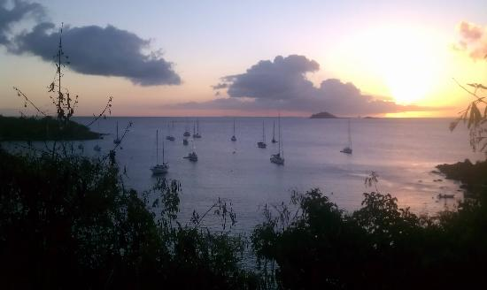 Virgin Islands Campground: View overlooking the nearby Honeymoon beach