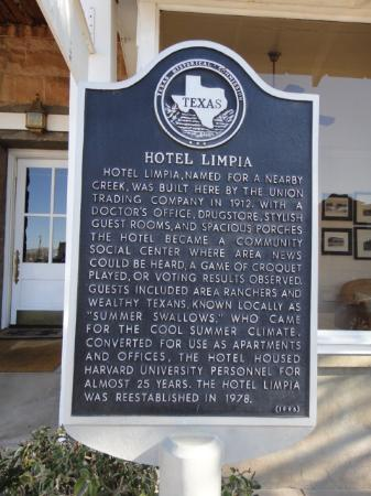 The Hotel Limpia: Some history of the Hotel Limpia.