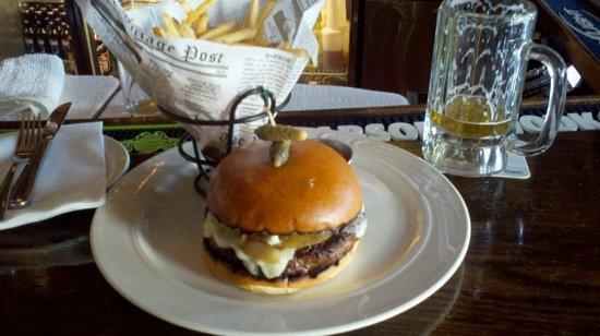Cedar Street Grill: The Cedar Street Burger with fries