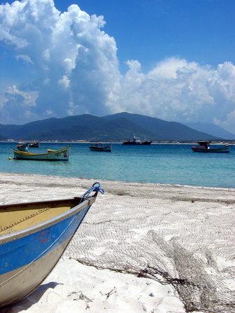 Campeche island: Fishnets in Canpeche island beach
