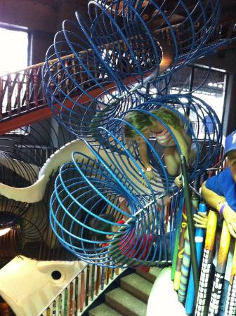 City Museum : You can take the stairs or the giant Slinky.