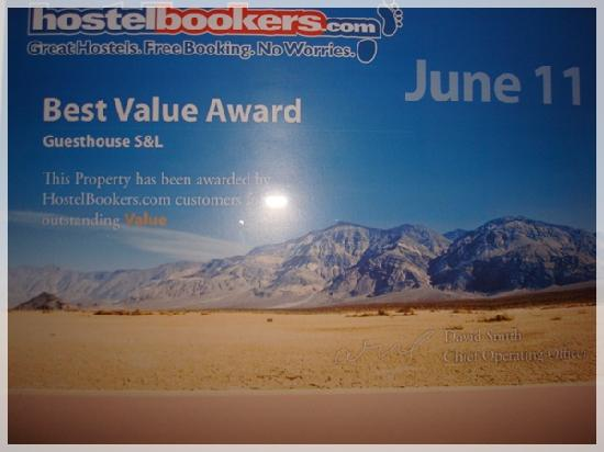 S&L Guesthouse: AWARD 2011