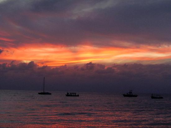Occidental Cozumel: Sunset on our first night