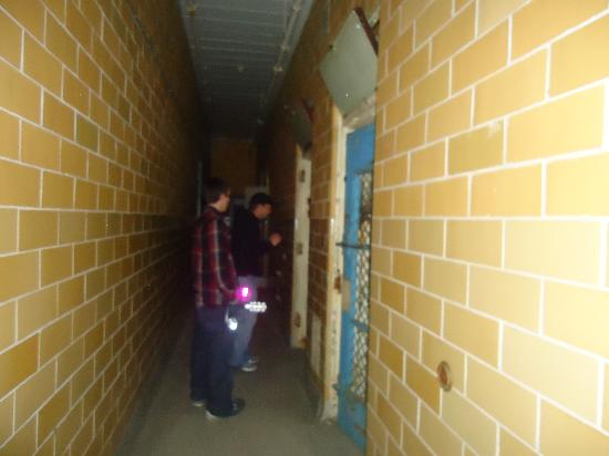 Trans-Allegheny Lunatic Asylum: Being shown the solitary cells