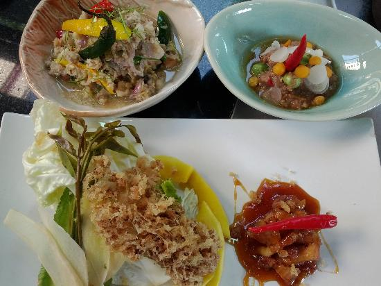 Khao San Cooking School: Vegetable with Shrimp paste dipping and salted mackerel dipping