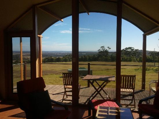 Tennessee Hill Chalets: View from the lounge room