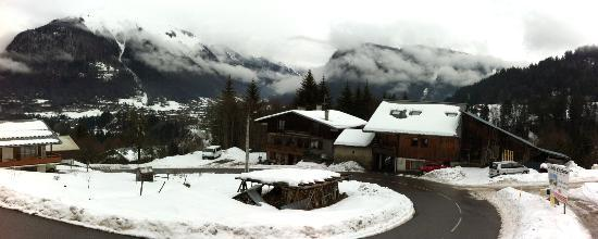 View from our balcony at Chalet Spycat