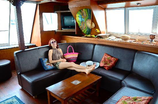 Langkawi Island Tours by Jet Ski: The yacht is very spacious
