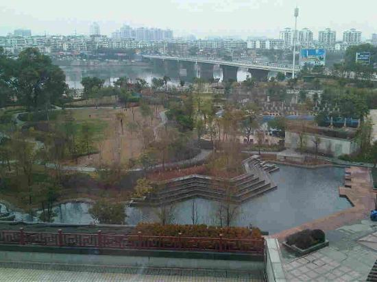 Shangri-La Hotel Guilin : garden view from level 5
