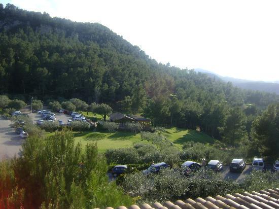 Can Rafel Golf Hotel: Vistas de la habitación al campo de golf