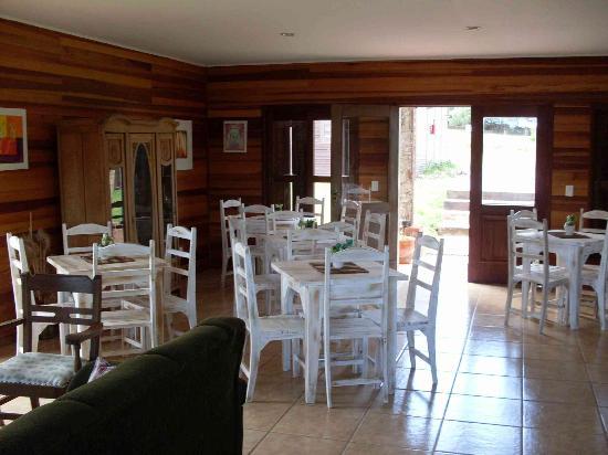 Santana do Livramento: Sala do Café da manhã que fica junto com a recepção e com a sala de estar