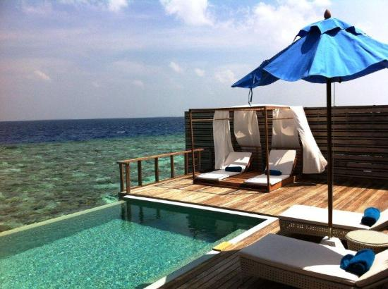 Dusit Thani Maldives: Ocean Villa - room 212 - sun deck - Feb 2012