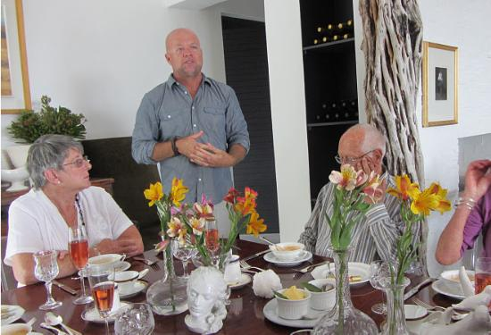 De Kelders Private Villa: Host Niel describes birthday menu