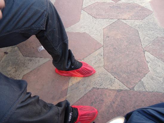 Howard Plaza The Fern Agra: Elegant (not) Taj over-slippers
