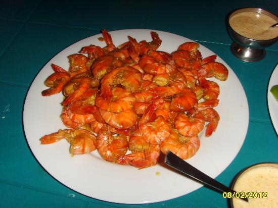 Jagabay Resort: Hotel cook prawns