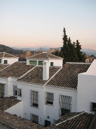 Santa Isabel la Real: View from our room - Alhambra just visible