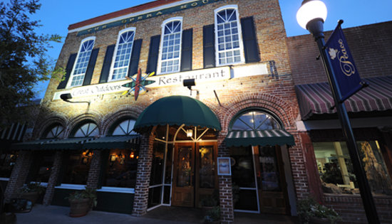 Located in the 1895 Historic Opera House newly renovated for the Great Outdoors Restaurant!