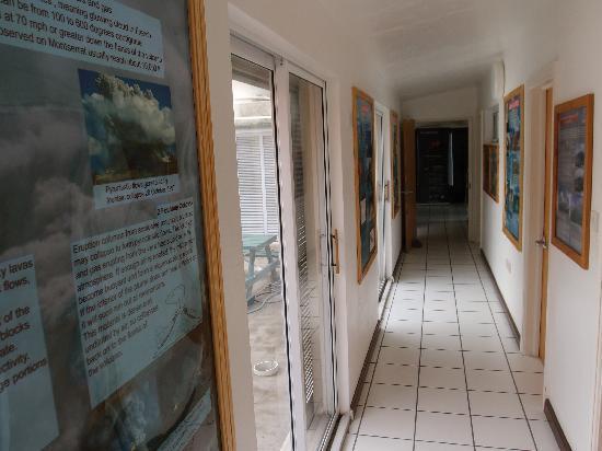 Montserrat Volcano Observatory: hallway inside