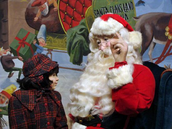 Santa Claus, IN: The wax figure of Santa Jim Yellig jog the memories of Good Girls and Boys who visited him at Sa