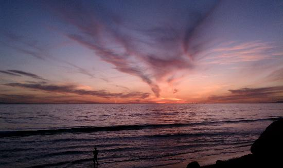 Ocean Mesa Campground at El Capitan: A sunset from down on the beach.
