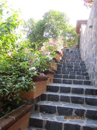 Hotel Casa Don Francisco: stairs to the first floor rooms