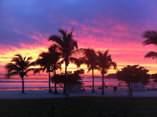 The St. Regis Punta Mita Resort: Most colourful sunset taking from our suite... AMAZING!