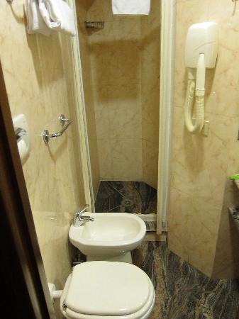 Hotel Parlamento: You have to climb over the bidet to get to the shower.