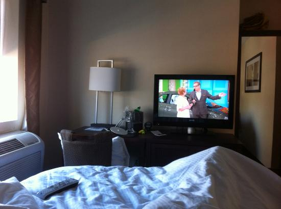 The Gatsby Hotel: Price is Right (nice flat screen) in bed