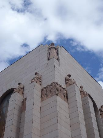 Anzac War Memorial: The north-western corner of the Memorial