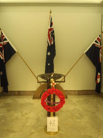 Anzac War Memorial: Flame of remembrance