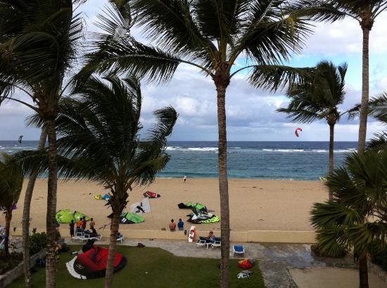 Hotel Kite Beach: Looking down on the kitebeach