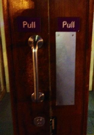 Premier Inn Birmingham Central East: nice to see they have a special Jedi entrance.