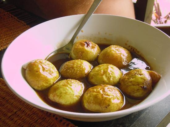 Au Soleil Couchant: Les pommes cannelle proposées au dessert