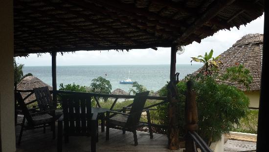 Au Soleil Couchant: vue de la terrasse du restaurant