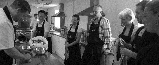 Inspired Gourmet Cookery School : Chef Dave Instructing