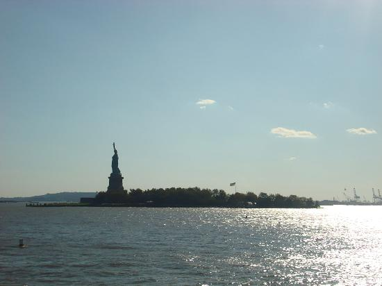 New York City, NY: Liberty Island on suuny new york day