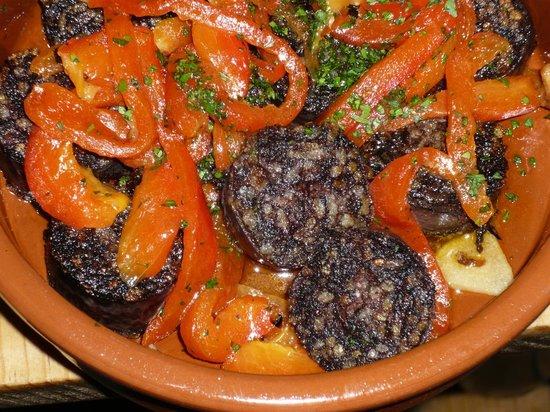 Canas & Barro: morcilla con pimientos