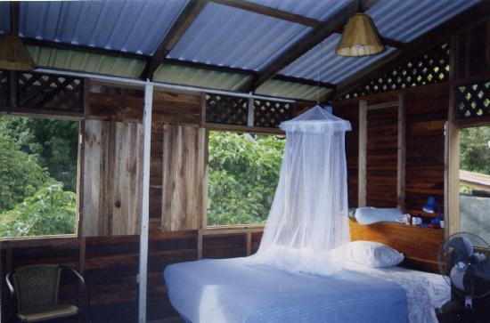 El Caracol Azul: screended spacious bedroom, jungle & ocean views