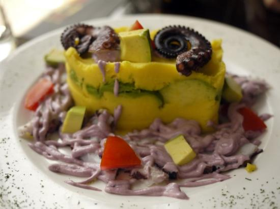 Cesar: olive and octopus causa