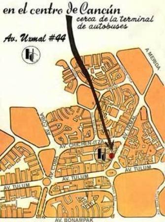 Hotel Cotty: Mapa