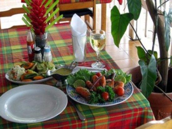 بورتسموث بيتش هوتل: Le Flambeau Restaurant Crayfish Creole