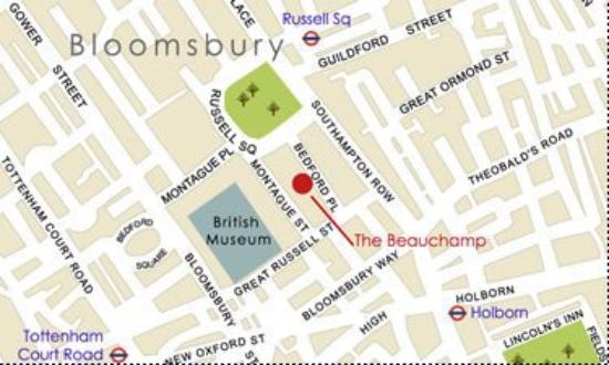 Grange Beauchamp Hotel : Beauchamp Map